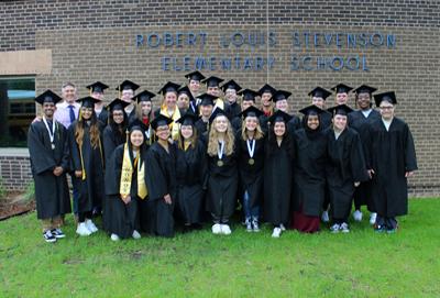 Graduating Fridley High School seniors visit their former